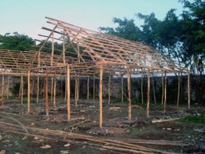 Construction d'une salle de classe provisoire