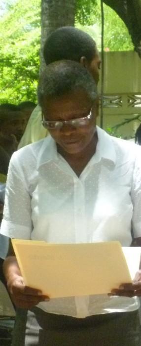Mme Lahate honorée par la philo