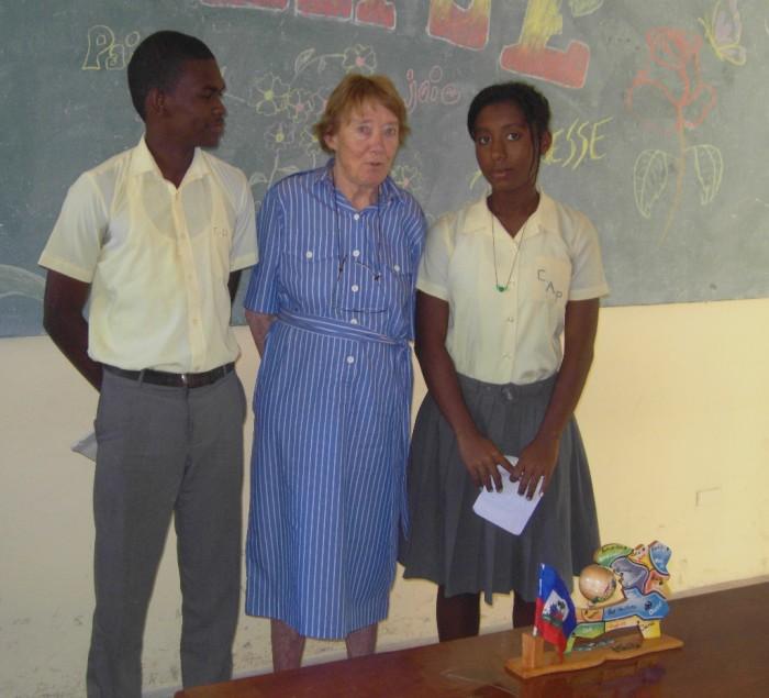Mme Rossillon et les délégués Blaise Le Sage et Geddina Bernard
