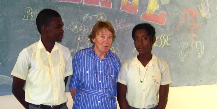 Mme Rossillon et les délégués Blaise Le Sage et Djedina Bernard