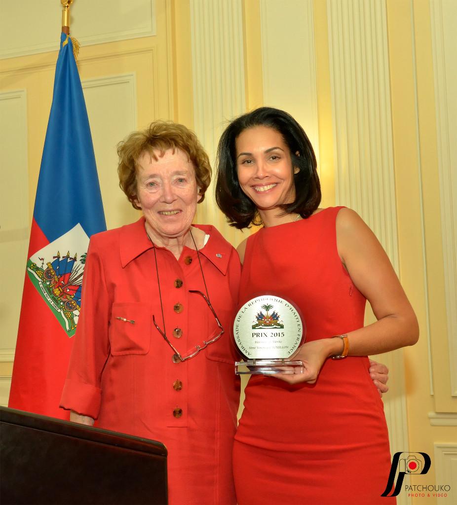 Madame Véronique Rossillon avec madame l'Ambassadrice Vanessa Matignon