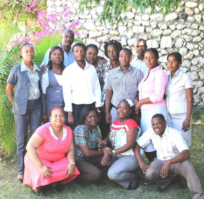 M. Plonquet et l'équipe des enseignants du primaire