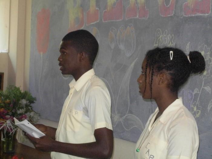 Blaise  Le Sage et Djedina Bernard , délégués élus de philo