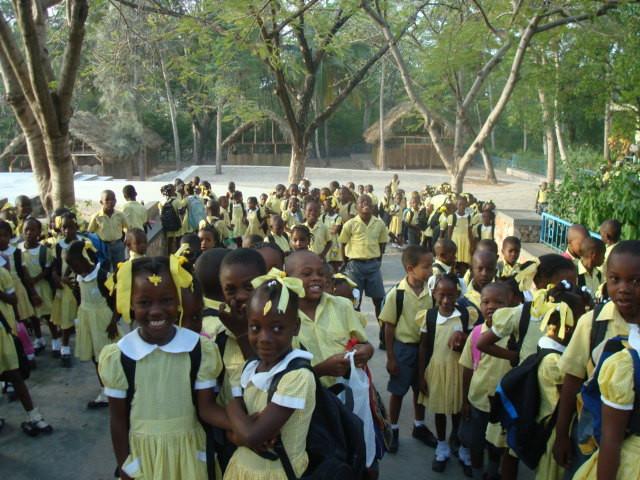 Elèves du primaire et du jardin d'enfants